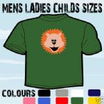 LION CARTOON T-SHIRT ALL SIZES & COLOURS